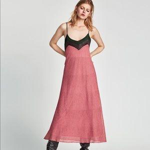 Zara shimmery combined dress